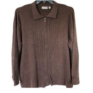 Croft & Barrow brown zip up sweater
